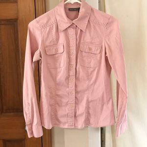 Dusty soft pink button down.